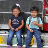 Back-to-school party for Lowell public schools at JFK Plaza. Abigail Munoz, 3, and her brother Geronimo Munoz, 5, of Lowell, who's going into kindergarden.(SUN/Julia Malakie)