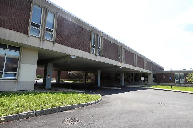 Robinson Middle School, one of the Lowell schools in need of maintenance. (SUN/Julia Malakie)