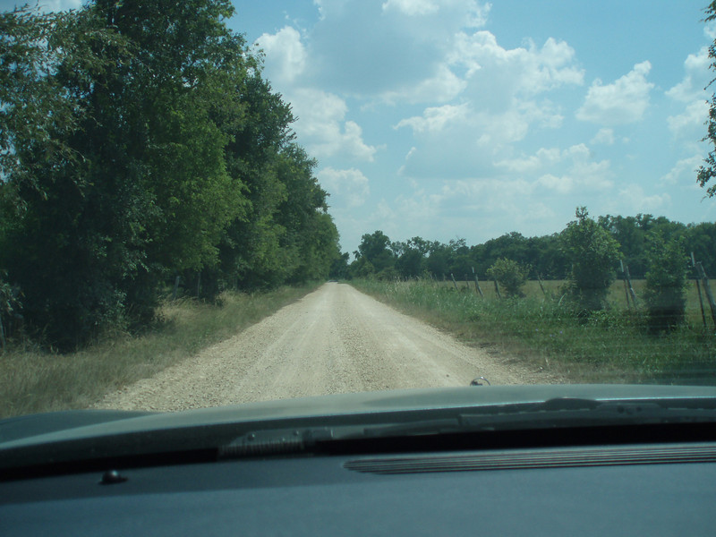 County  road off hwy 80