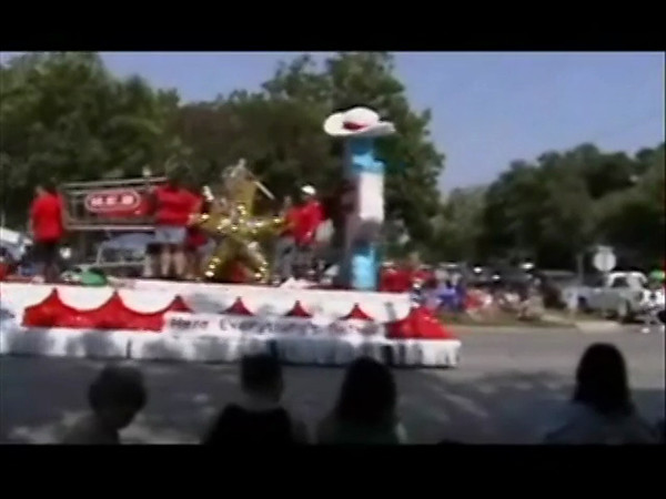 About 3 minute video of Luling Texas Watermelon Thump Parade 6/23/12.  Other panel  images are still shots.