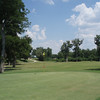 Luling municipal golf course 7th green view showing players teeing off across bend in Guadalupe River 6/23/12