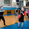 Lee McDonald, a 2015 LHS graduate, and mom Lea McDonald dances along to the throwback tunes during the Goodbye Lunenburg High Sock Hop on Saturday afternoon. The event marked the last dance that will be held in the building before it is torn down and paid homage to the year the school was built, 1957. SENTINEL & ENTERPRISE / Ashley Green