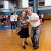 Chemistry teacher Dr. Mitch Friedman and physical education teacher Rhonda Malatos break it down during the Goodbye Lunenburg High Sock Hop on Saturday afternoon. The event marked the last dance that will be held in the building before it is torn down and paid homage to the year the school was built, 1957. SENTINEL & ENTERPRISE / Ashley Green