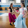 Devyn Petersen and Kaitlyn Coppenrath dance along to the throwback music during the Goodbye Lunenburg High Sock Hop on Saturday afternoon. The event marked the last dance that will be held in the building before it is torn down and paid homage to the year the school was built, 1957. SENTINEL & ENTERPRISE / Ashley Green