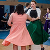 Hannah Roane and Olivia Hayes dance along to the throwback music during the Goodbye Lunenburg High Sock Hop on Saturday afternoon. The event marked the last dance that will be held in the building before it is torn down and paid homage to the year the school was built, 1957. SENTINEL & ENTERPRISE / Ashley Green