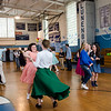 Students dance along to the throwback music during the Goodbye Lunenburg High Sock Hop on Saturday afternoon. The event marked the last dance that will be held in the building before it is torn down and paid homage to the year the school was built, 1957. SENTINEL & ENTERPRISE / Ashley Green
