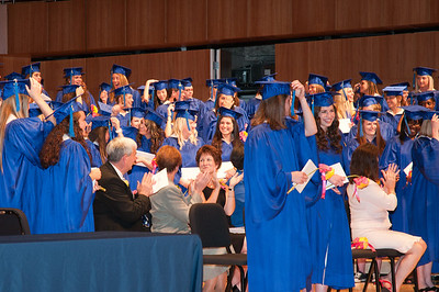 Moving the tassels after receipt of their diplomas
