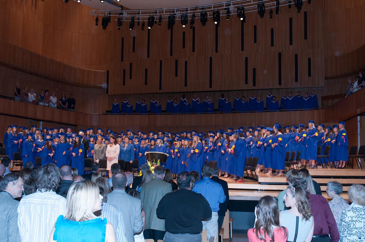 Graduating class of 164 young women.