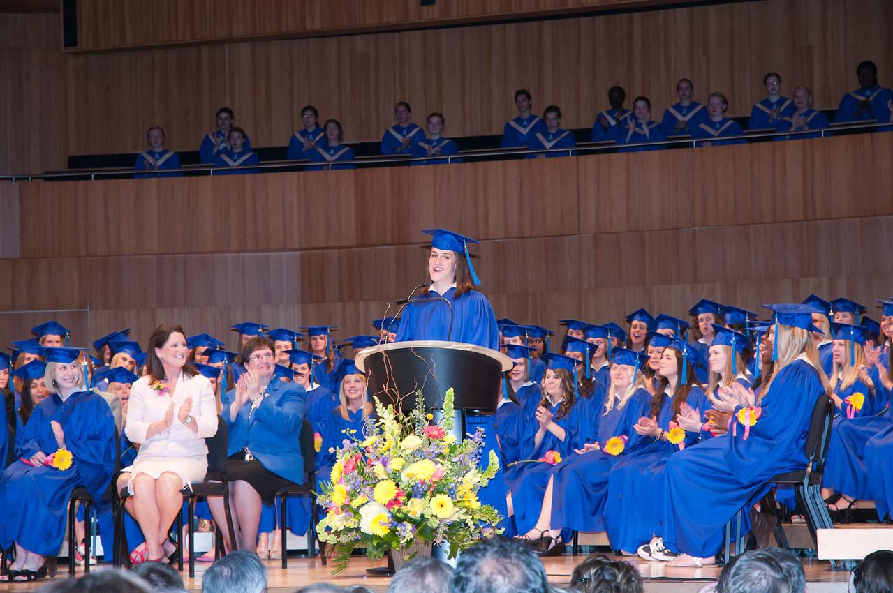 Graduation address by Marian Girl of the Year, Joy Elizabeth Leick