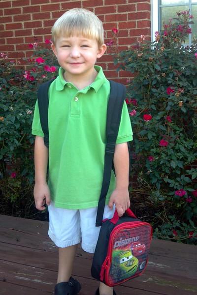 Mason 1st Day of Pre-School