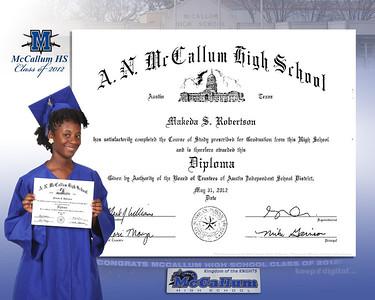 2012 McCallum Keedjit™ Diploma Proof Photos