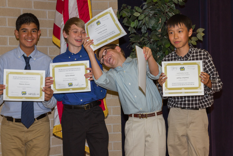 2015 McMeans 7th Grade Awards Evening