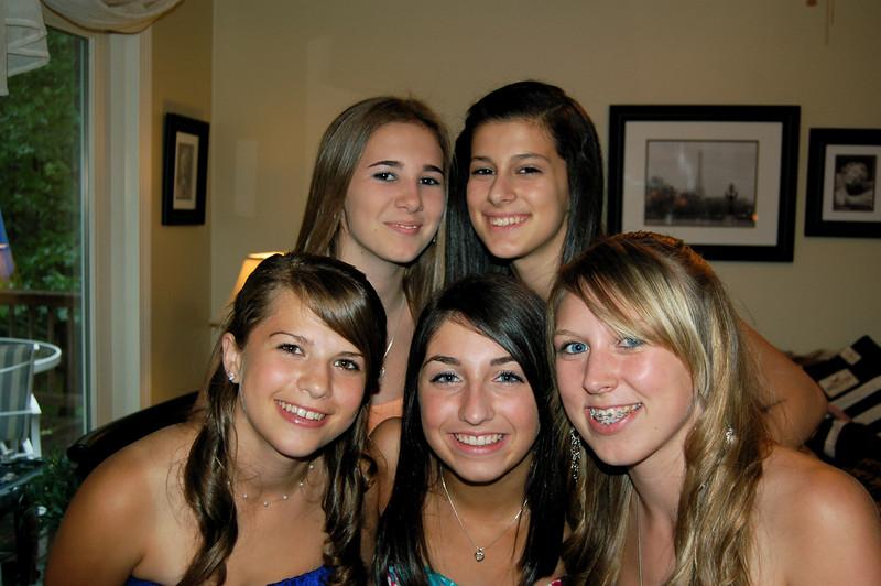 Morgan, Megan, Caitlyn, Jill, Nicolette