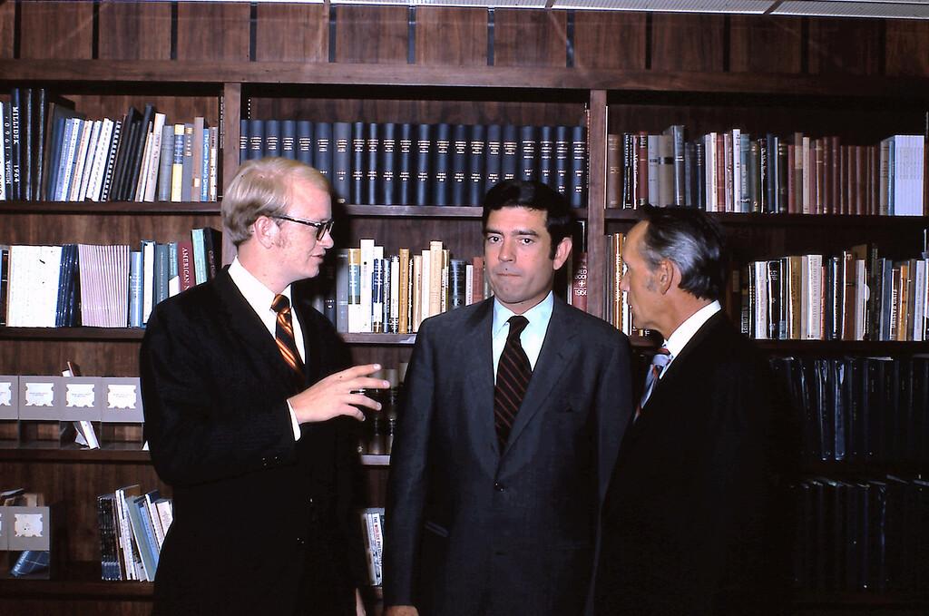 Rick Hohlt, Dan Rather, and Dr. Paul McKay