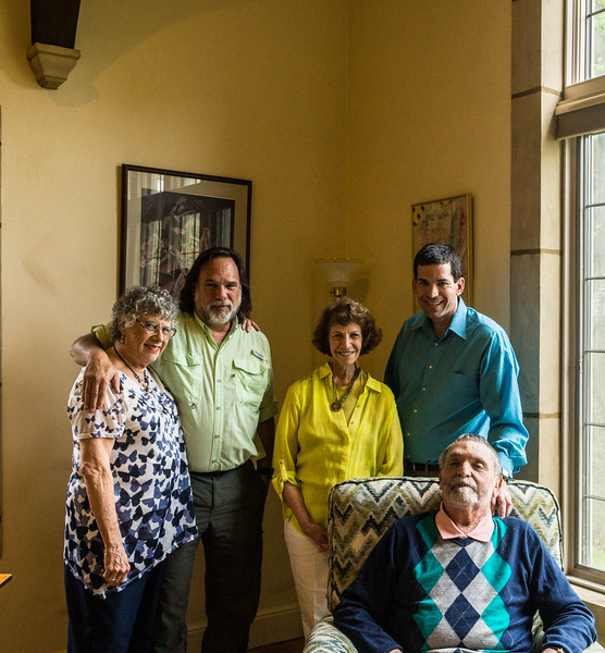 Niki Eschen (Greg's mother), Greg, Brenda Baron, David Baron, Jay Baron (Greg's father)