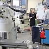 Lt. Governor Karyn Polito visited Montachusett Regional Vocational Technical  High School on Thursday morning. Polito visited the Machine Technology program during her visit. SENTINEL & ENTERPRISE/ JOHN LOVE
