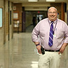 Montachusett Regional Vocational Technical School Principal Tom Browne stands in one of the hallways of the school. SENTINEL& ENTERPRISE/JOHN LOVE