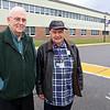 Montachusett Regional Vocational Technical School's retired Principal John Dzerkacz and retired Superintendent Stratos Dukakis at the school recently. SENTINEL & ENTERPRISE/JOHN LOVE