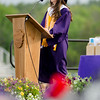 Valedictorian Taylor Sadowski speaks during the 45th commencement ceremony held at Monty Tech on Wednesday evening. SENTINEL & ENTERPRISE / Ashley Green