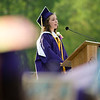 Salutatorian Marina Good addresses her classmates during the 45th commencement ceremony held at Monty Tech on Wednesday evening. SENTINEL & ENTERPRISE / Ashley Green