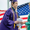 Brandon Fahey, of Ashburnham, receives his diploma during the 45th commencement ceremony held at Monty Tech on Wednesday evening. SENTINEL & ENTERPRISE / Ashley Green