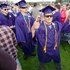 Graduates enter the 45th commencement ceremony held at Monty Tech on Wednesday evening. SENTINEL & ENTERPRISE / Ashley Green