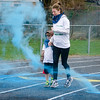 Jill and Jackson Evans participate in the Colorful Change at Monty Tech on Saturday, April 23. The event was created by students in the Youth Venture program and the proceeds were to benefit local children in foster care. SENTINEL & ENTERPRISE / Ashley Green