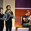 "Montachusett Vocational Technical High School will be putting on the play  ""Avenue Q"" on Friday February 28th at 3:30 p.m., Saturday March  1st at 7 p.m. and Sunday March 2nd at 2 p.m. at the school. Performing on stage during a dress rehearsals on Thursday is Marnie Aldrich and Jason Sandagon playing Nicky and Leighton Moylan playing Rod, head in book. SENTINEL & ENTERPRISE/JOHN LOVE"