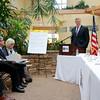 Governor Charlie Baker addresses the crowd at a roundtable discussion on veteran opioid addiction at Northeast Veterans & Rehabilitation Center in Gardner on Thursday morning. SENTINEL & ENTERPRISE/JOHN LOVE