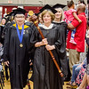 Faculty enters the commencement ceremony at Mount Wachusett Community College on Wednesday evening. SENTINEL & ENTERPRISE / Ashley Green