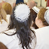 Many graduates chose to wear the traditional MWCC nursing graduate caps during the Mount Wachusett Community College nurses pinning ceremony held on Thursday evening. SENTINEL & ENTERPRISE / Ashley Green