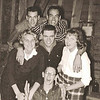 1957 - after class play - front: Gary Fisher; middle: Coni Hunting, Lloyd Meister, Jeannete Westcott; back: Dwaine Voas, Bob Pedersen