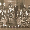 1951 Concert Band - Gerald Ludtke, director<br /> Second row of clarinets: Marge & Don Voas #2&3, Ray Clouse #4; Dwaine - in center with Oboe; Last saxiphone in 2nd row - Mavis Vollenweider; Phyllis Vollenweider right behind her with horn