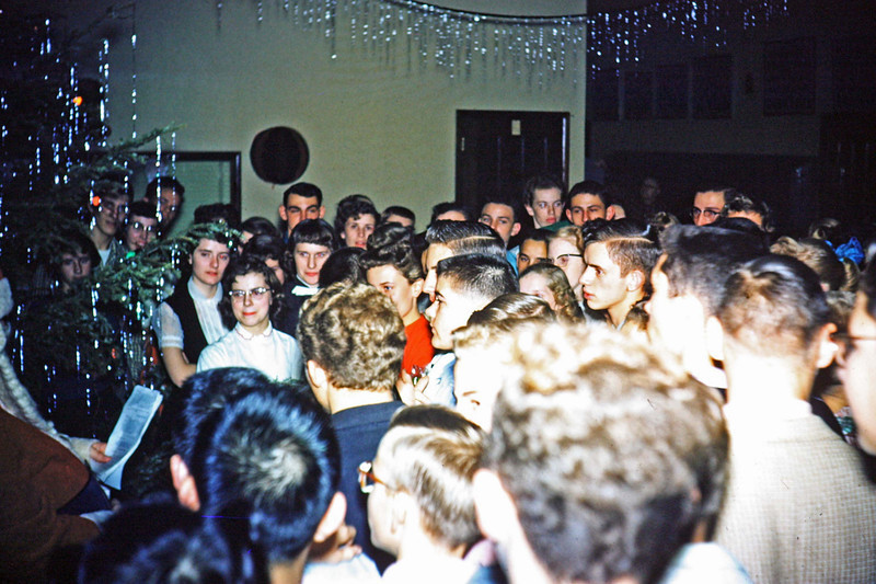 1956-12 - Christmas dance - visit from Santa