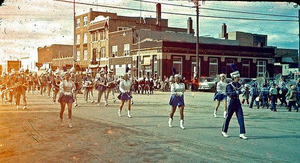 1957-10-19 - Band in Homecoming parade