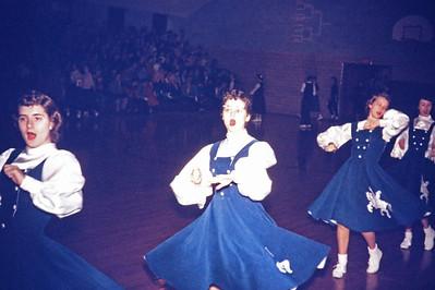1957-02 - Sharon Preston, Donna Zellmer, Jeannine Wink,