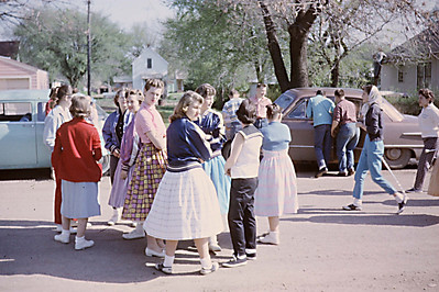 1958-05 - Marching band practice