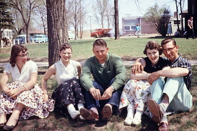 1957-05 - Gloria Happel, Jerri Parks, Darrel Rhumohr, Sharon Preston, Jim Wendell