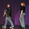 Mr. Bellevue East 2013. The contest started with the participants being escorted in by teachers. This is Austin Anderson and Mrs. Rabick.