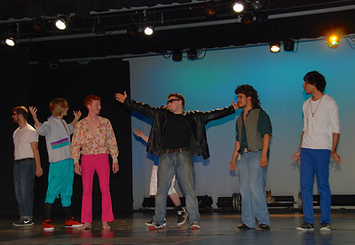 First contest: 80s dance.