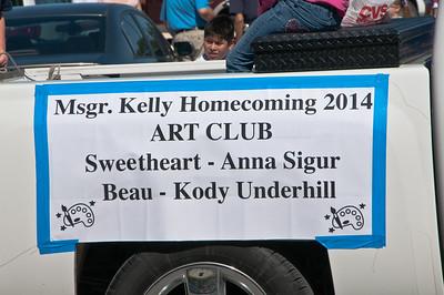 Msg. Kelly's Homecoming Parade 2014