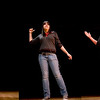 """Angela Garcia of Co-op performs her piece """"What's This?"""" during the annual NHPS storytelling festival at Fair Haven School Wednesday night."""