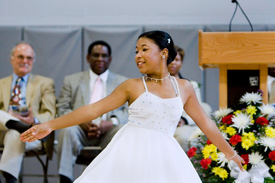 Student Tiana Scales performs during the official Dedication Ceremony for the new Beecher School, September 9th, 2007.