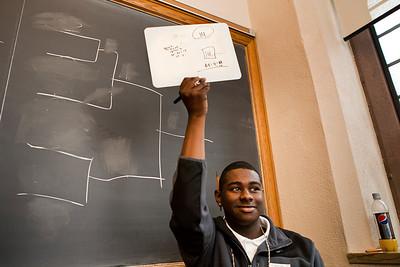 Coop tenth-grader Chaevon Samuel takes aprt in the STEM program, Prove It at Yale in November, 2010.