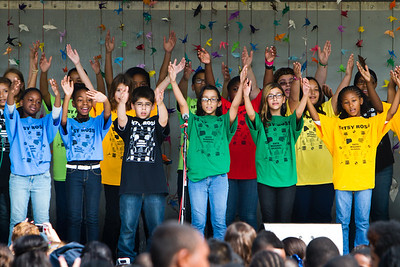 Students from Betsy Ross perfrom during a special ceremony to mark the International Day of Peace Wednesday.