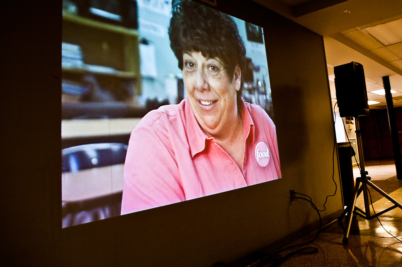 "HSC students were treated to a replay of their school chef Cheryl Barbara appearing on ""Chopped."""
