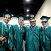 Wyatt Boelens, Anthony Kennon, William Phaneuf and Andrew Ricci embrace after graduating from Nashoba Regional High School on Sunday.<br /> SENTINEL AND ENTERPRISE/ JULIA SARCINELLI