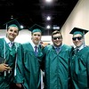 Wyatt Boelens, Anthony Kennon, William Phaneuf and Andrew Ricci embrace after graduating from Nashoba Regional High School on Sunday.<br /> SENTINEL AND ENTERPRISE/ JULIA SARCINELLI