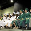 Students from the Nashoba Regional High School class of 2016 look on as their fellow graduates received diplomas at graduation Sunday.<br /> SENTINEL AND ENTERPRISE/JULIA SARCINELLI