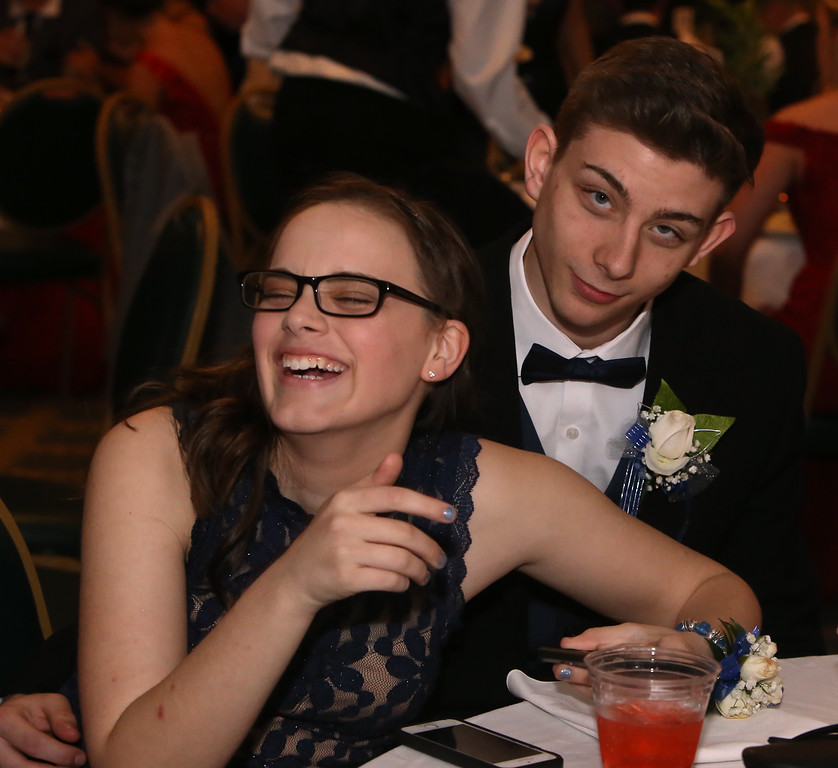 . Nashoba Tech prom. Kyli Schwartz of Shirley and Henry St. Amand of Chelmsford. (SUN/Julia Malakie)